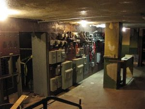 Rubber flooring can revitalize this old basement area