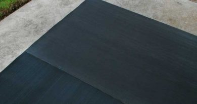 Rubber flooring rolls can be used for smaller applications such as sidewalks and ramps.