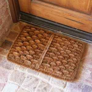 We have natural coir mats specifically made for scraping shoes! Click the image above to check it out!