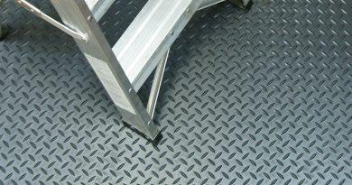 Rubber garage flooring is available in custom cut rolls with lengths up to 50 ft.
