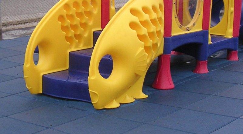 Two Types of Playground Surfacing Materials